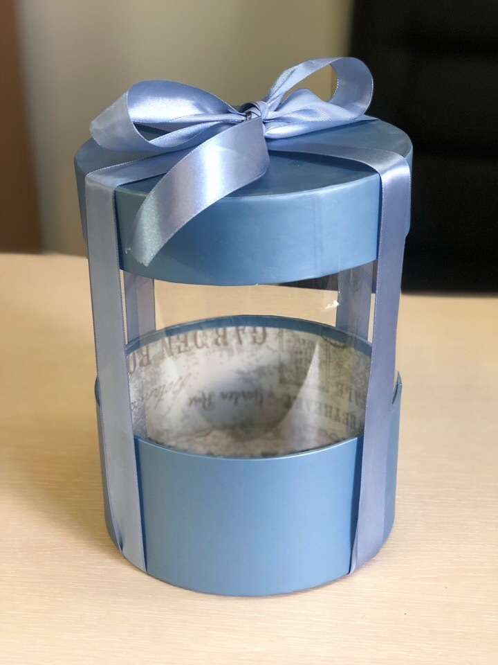 Коробка аквариум 20 см Цвет : Металлик  . Розница 400 рублей .