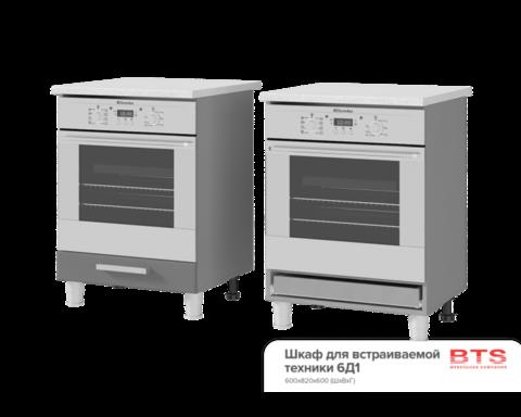 Шкаф для встраиваемой техники (600*820*600) 6Д1