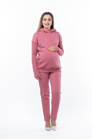 Утепленный спортивный костюм для беременных и кормящих 10751 бордовый