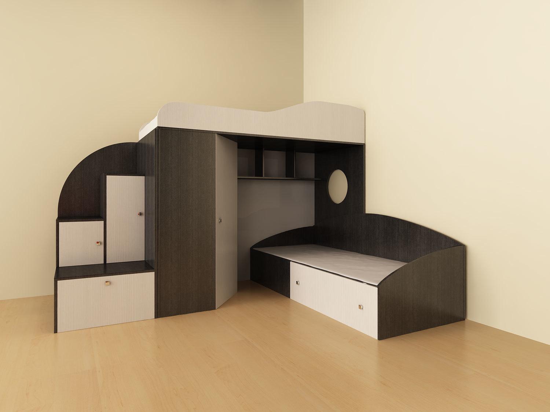 двухъярусная детская кровать фото