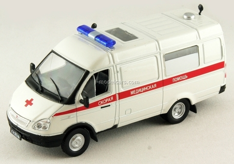 GAZ-32214 Gazelle Ambulance Russia 1:43 DeAgostini Service Vehicle #11