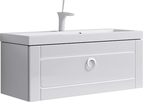 Инфинити Тумба под умывальник подвесная с ящиком, цвет белый Inf.01.10/001,