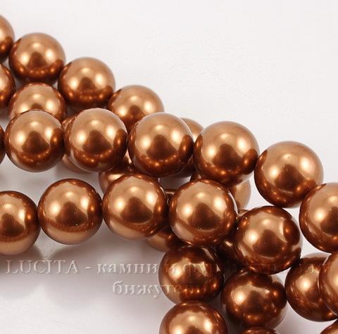 5810 Хрустальный жемчуг Сваровски Crystal Copper круглый 12 мм