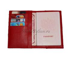 Обложка для паспорта и документов из кожи питона AC-22