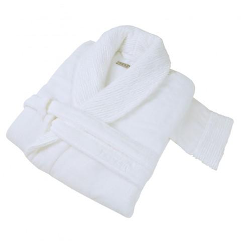 Элитный халат махровый Galata Organic Contrast белый от Hamam