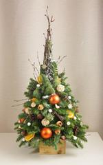 Елочка оранж с ветками 50 см