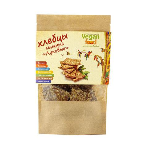 Хлебцы льняные Луковые Vegan Food, 100 гр