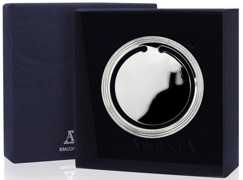 Серебряная закладка для книг гладкая