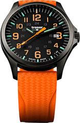 Швейцарские тактические часы Traser P67 OFFICER PRO  GUNMETAL  Black/Orange 107871