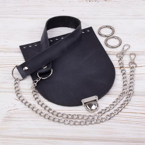 """Комплект для сумочки Орео """"Черный пулап"""" N2"""
