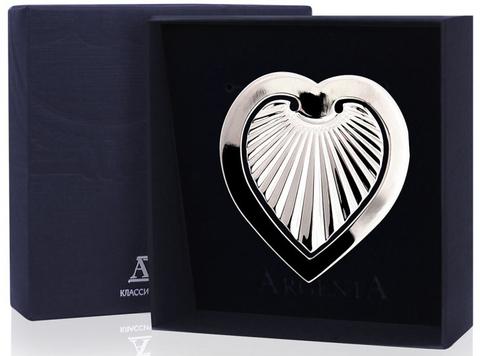 Серебряная закладка для книг «Сердечко»