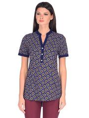 WP6506F блузка женская, темно-синяя
