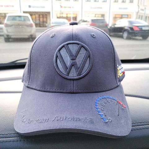 Бейсболка Фольксваген серая (Кепка Volkswagen)