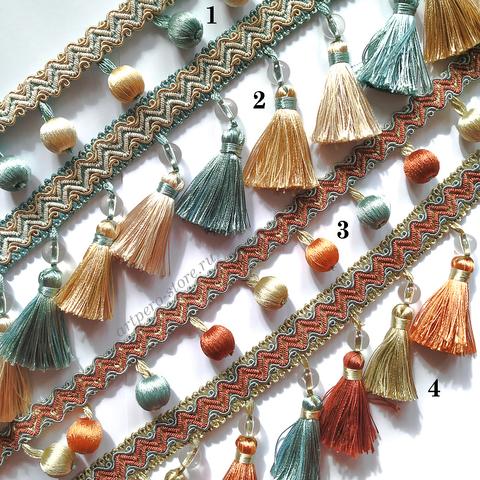 Тесьма декоративная с кисточками и шариками