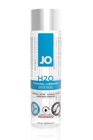 Классический возбуждающий лубрикант на водной основе JO H2O Warming, 4 oz (120мл.) фото