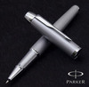 Купить Ручка-роллер Parker IM Metal, T221, цвет: Silver CT, стержень: Fblack,  S0856370 по доступной цене