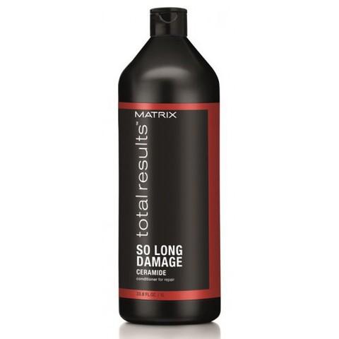 Кондиционер с керамидами для восстановления волос, Matrix So Long Damage,1000 мл.