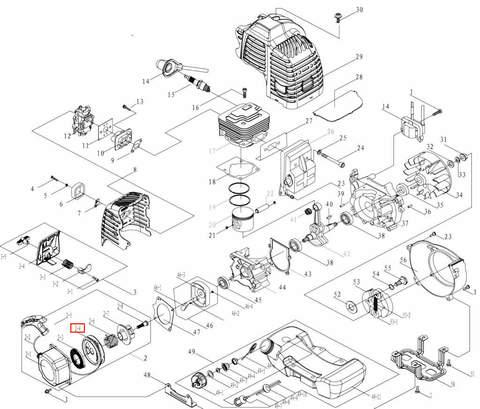 Заводной барабан для лодочного мотора T3,5 Sea-PRO