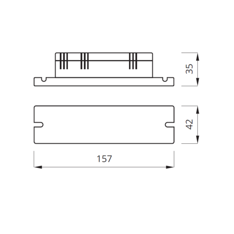 Блок аварийного питания для люминесцентных ламп 6-58W NEXT – размеры
