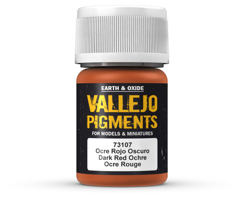 Pigments Dark Red Ochre 35 ml.