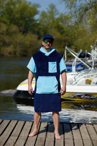 Пончо Navy+Аквамарин Tyshler's