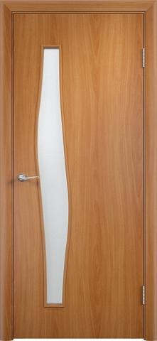 Дверь Верда С-10, цвет миланский орех, остекленная