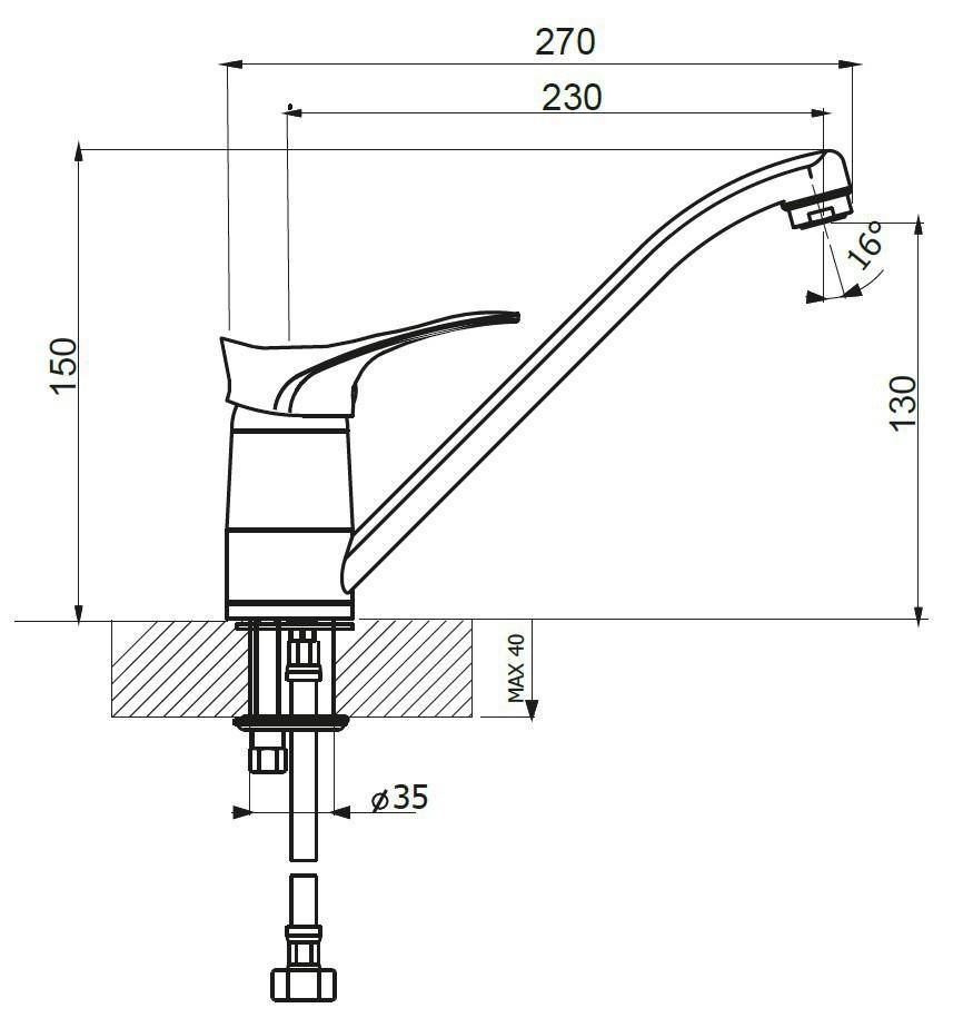 Кухонный смеситель Dr. Gans DG-01 схема