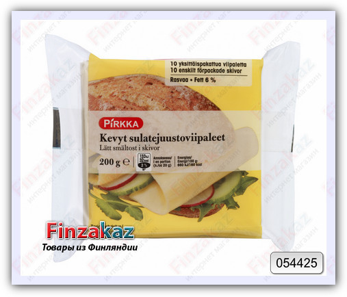 Обезжиренный сыр Pirkka для сэндвичей 200 гр