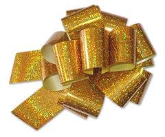Бант-шар голография (золото) 50x160 большой