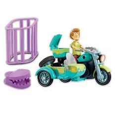 Игровой набор Мотоцикл с коляской  и фигурка Шэгги - Скуби Ду (Scooby-doo), Hanna-Barbera
