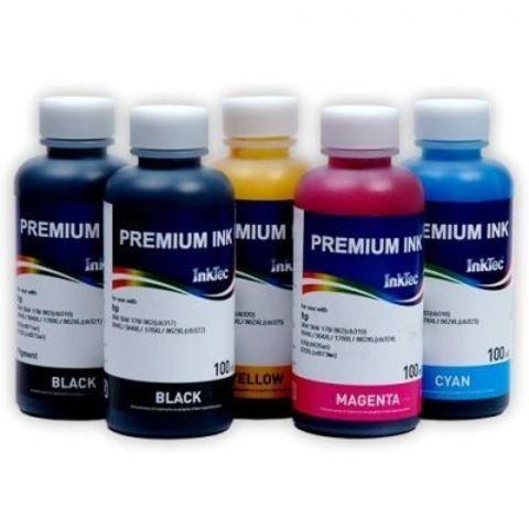 Комплект чернил Inktec H7064 5 цветов Bk, PBk, C, M, Y по 100мл. (для картриджей HP №178, CB316, CB321)
