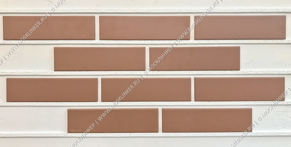 Клинкерная плитка Cerrad, Brazowa (Braz/Brown), гладкая, 245x65x6.5