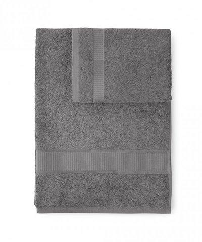 Набор полотенец 2 шт Caleffi Calypso серый