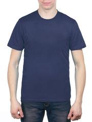 3366-7 футболка мужская, синяя