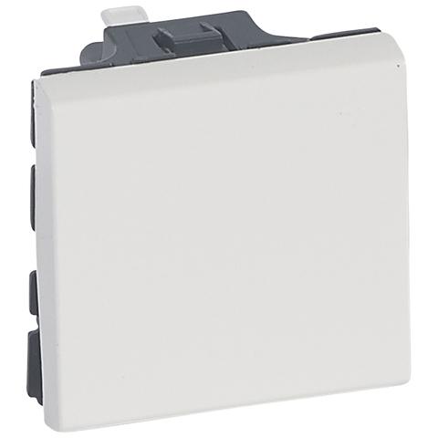 Выключатель без фиксации 6 A - 2 модуля. - антибактериальный. Цвет Белый. Legrand Mosaic (Легранд Мозаик). 078715