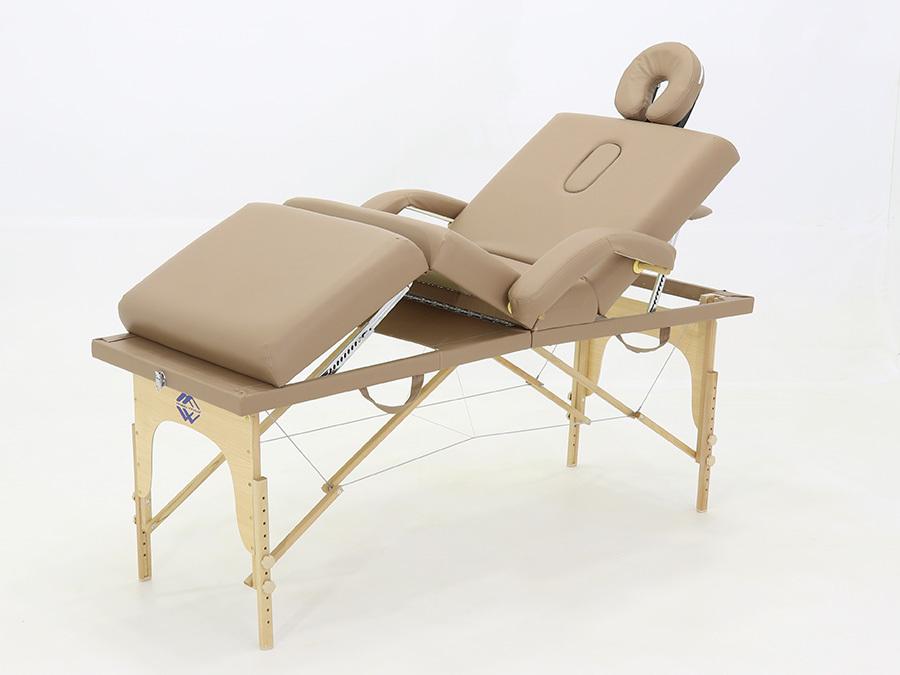Складной массажный стол Med-Mos JF-Tapered (МСТ-141), бук, 4-секционный, с регулировкой высоты фото