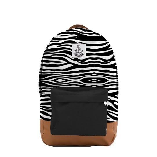 Рюкзак ЯКОРЬ Малый Бот с принтом ZEBRA