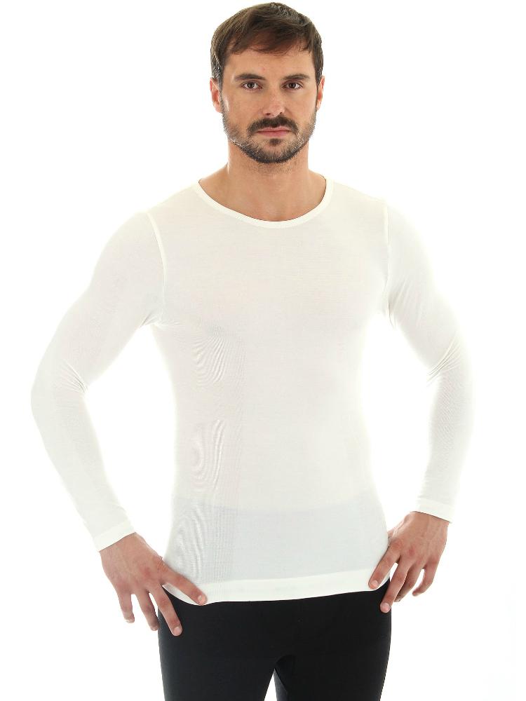 Мужская терморубашка Brubeck Comfort Wool (LS12160) кремовая