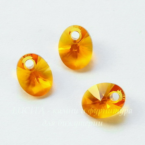 6028 Подвеска Сваровски Овал Tangerine (8 мм)