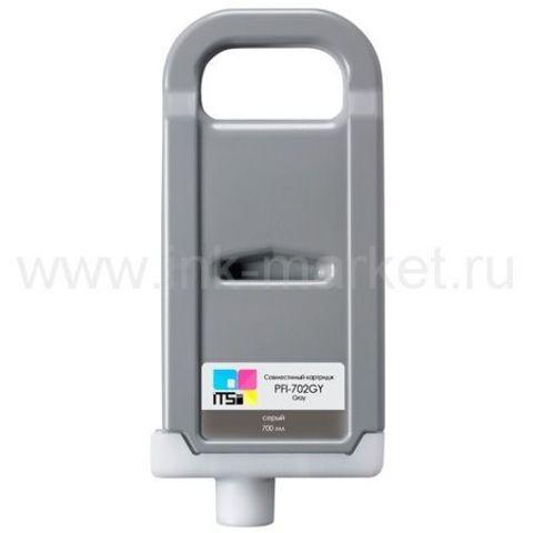 Совместимый картридж PFI-702 Gray Pigment 700 мл для Canon imagePROGRAF 8100/9100