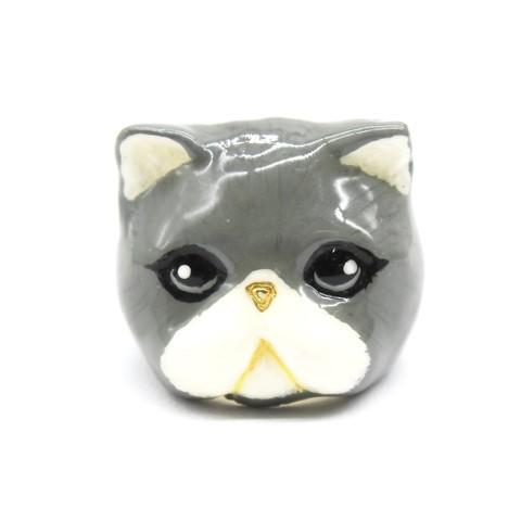 Кольцо Персидская кошка (серая)