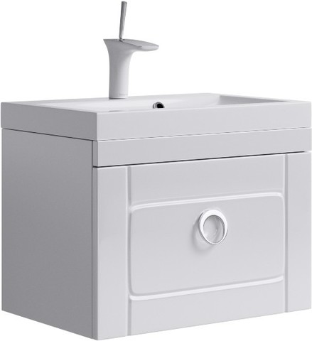 Инфинити Тумба под умывальник подвесная с ящиком, цвет белый Inf.01.06/001,