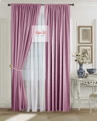 Комплект штор Лоран (тёмно-розовый). Шторы из стриженного бархата.