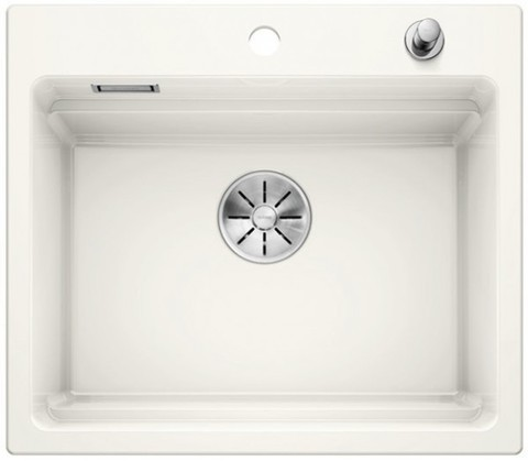 Кухонная мойка Blanco Etagon 6 Ceramic PuraPlus, глянцевый белый