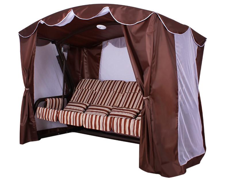 Садовые качели Садовые качели Монарх (Шоколад) Монарх-вид-сбоку.jpg