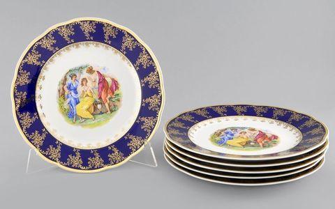 Набор тарелок мелких 25 см 6 штук Мэри-Энн Leander