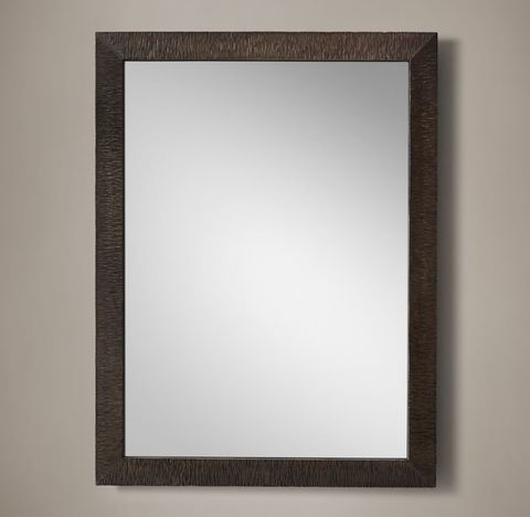 Hand-Textured Wrought Iron Mirror - Wide Frame