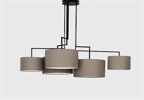 Chandelier Noon 5 by Zeitraum (grey)