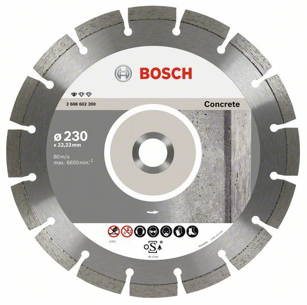 Алмазный диск Standart for Concrete 230-22,23 10шт Bosch 2608603243