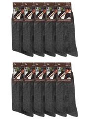 A-2-1 Хлопок носки мужские (10шт), темно-серые